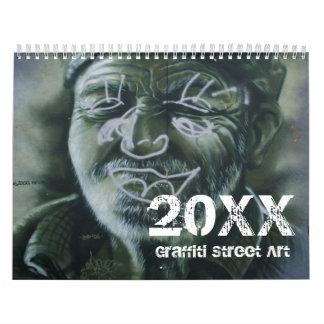 Calendario 20xx del arte de la calle de la pintada