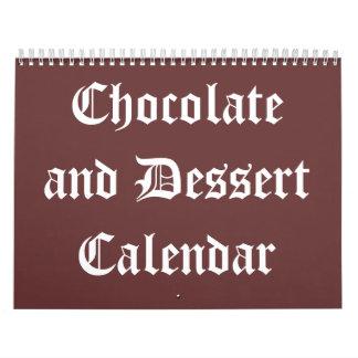 Calendario 20XX del chocolate y del postre