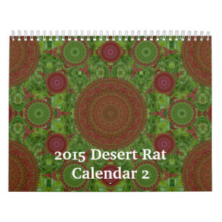 Calendario 2 de la rata de desierto 2015