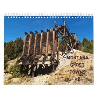 Calendario #2 de los pueblos fantasmas de Montana