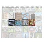 Calendario 3 del arte de la letra del año 2012