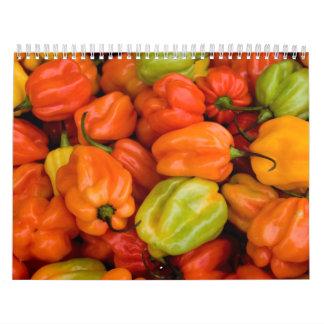 Calendario 5 de la fruta y de la comida