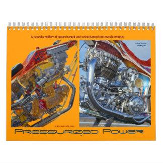 Calendario a presión 2012 del motor de la