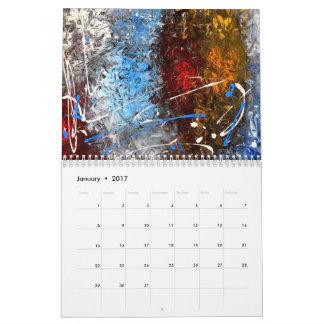 Calendario abstracto 2017