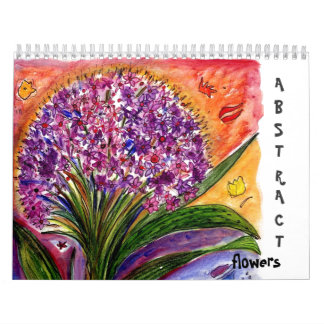 Calendario abstracto de las flores