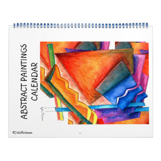 Calendario abstracto de las pinturas