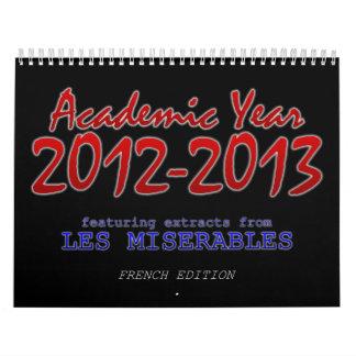 Calendario académico 2012-2013, francés
