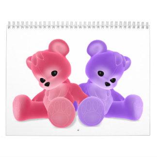 Calendario adaptable de Bearz del peluche