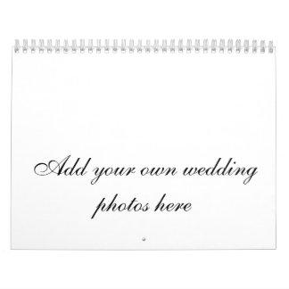 Calendario adaptable de las fotos del boda