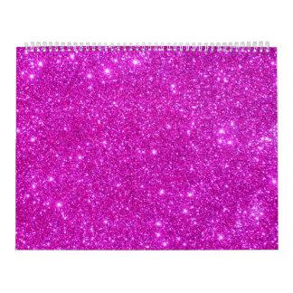 Calendario adaptable del diseño de la chispa rosad