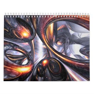 Calendario adaptable V4 del arte abstracto