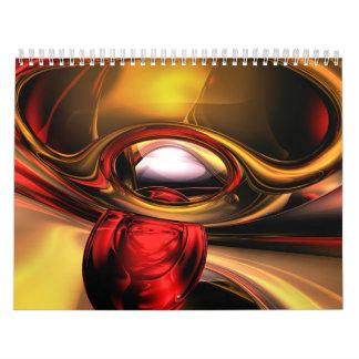 Calendario adaptable V5 del arte abstracto