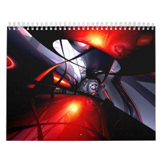 Calendario adaptable V6 del arte abstracto