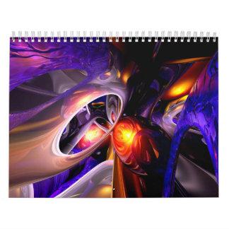 Calendario adaptable V8 del arte abstracto