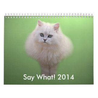 Calendario adorable del gatito