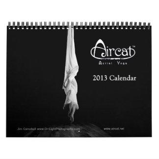 Calendario aéreo 2013 de la yoga de Aircat