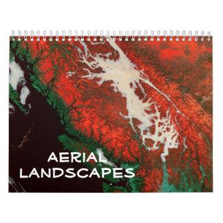 Calendario aéreo de los paisajes