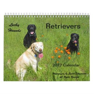 Calendario afortunado 2012 del perro perdiguero de