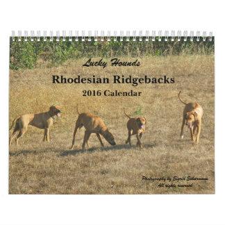 Calendario afortunado 2016 de Rhodesian Ridgeback