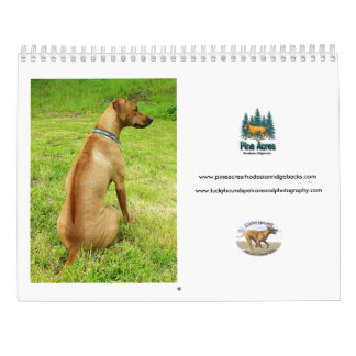 Calendario afortunado 2017 de Rhodesian Ridgeback