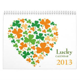 Calendario afortunado de los tréboles 2013
