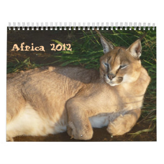 Calendario africano de la fauna 2012