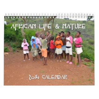 Calendario africano del personalizado 2014 de la