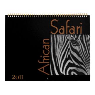 Calendario africano del safari