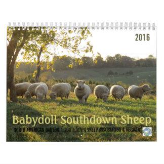 Calendario al sur de las ovejas 2016 NABSSAR de la