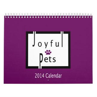 Calendario alegre de 2014 mascotas