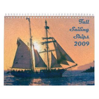Calendario alto de los veleros