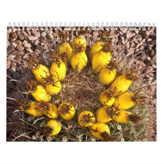 Calendario amarillo del cactus