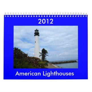 Calendario americano 2012 del faro