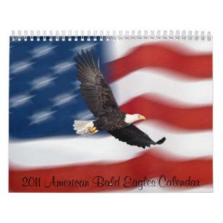 Calendario americano de 2011 Eagles calvo