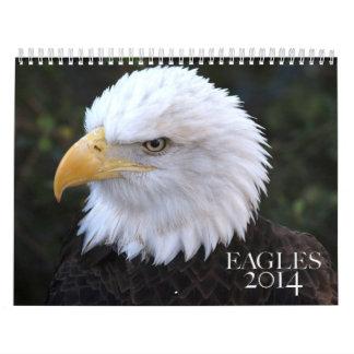 Calendario americano de Eagle calvo 2014