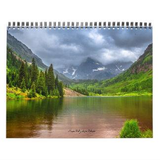 Calendario americano de los paisajes