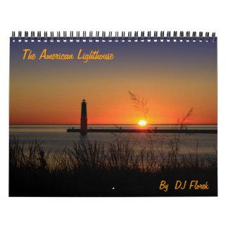 Calendario americano del faro de DJ Florek