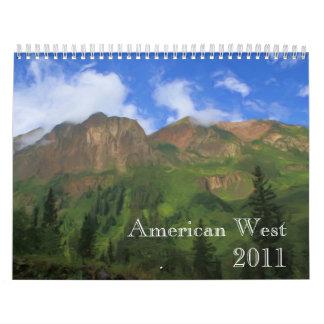 Calendario americano del oeste 2011