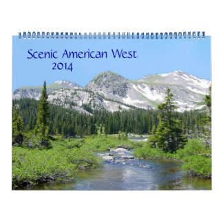 Calendario americano escénico del oeste 2014