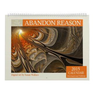 Calendario anaranjado del fractal 2015 del