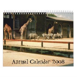 Calendario animal 2008