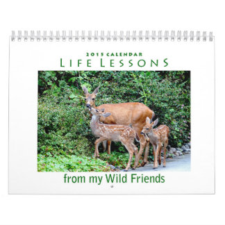 Calendario animal 2015 de las lecciones de la vida