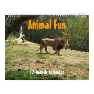 Calendario animal de la diversión