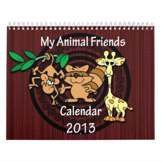 Calendario animal de los amigos 2013 del dibujo