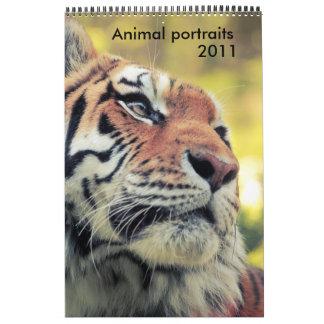 Calendario animal de los retratos 2011