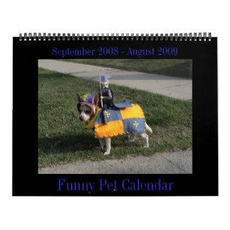 Calendario animal divertido