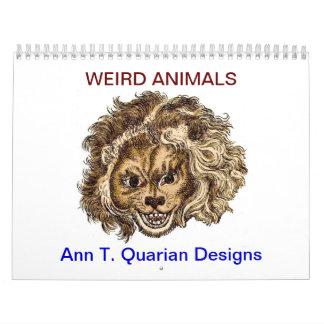 Calendario animal extraño - 2013