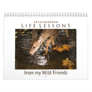 Calendario animal inspirado 2014