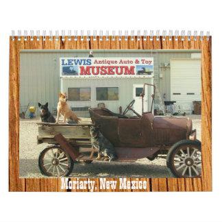 Calendario antiguo del museo 2013 del auto y del j