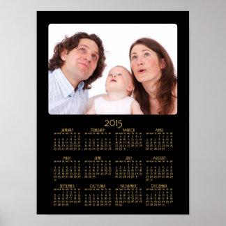 Calendario anual personalizado 2015 del poster